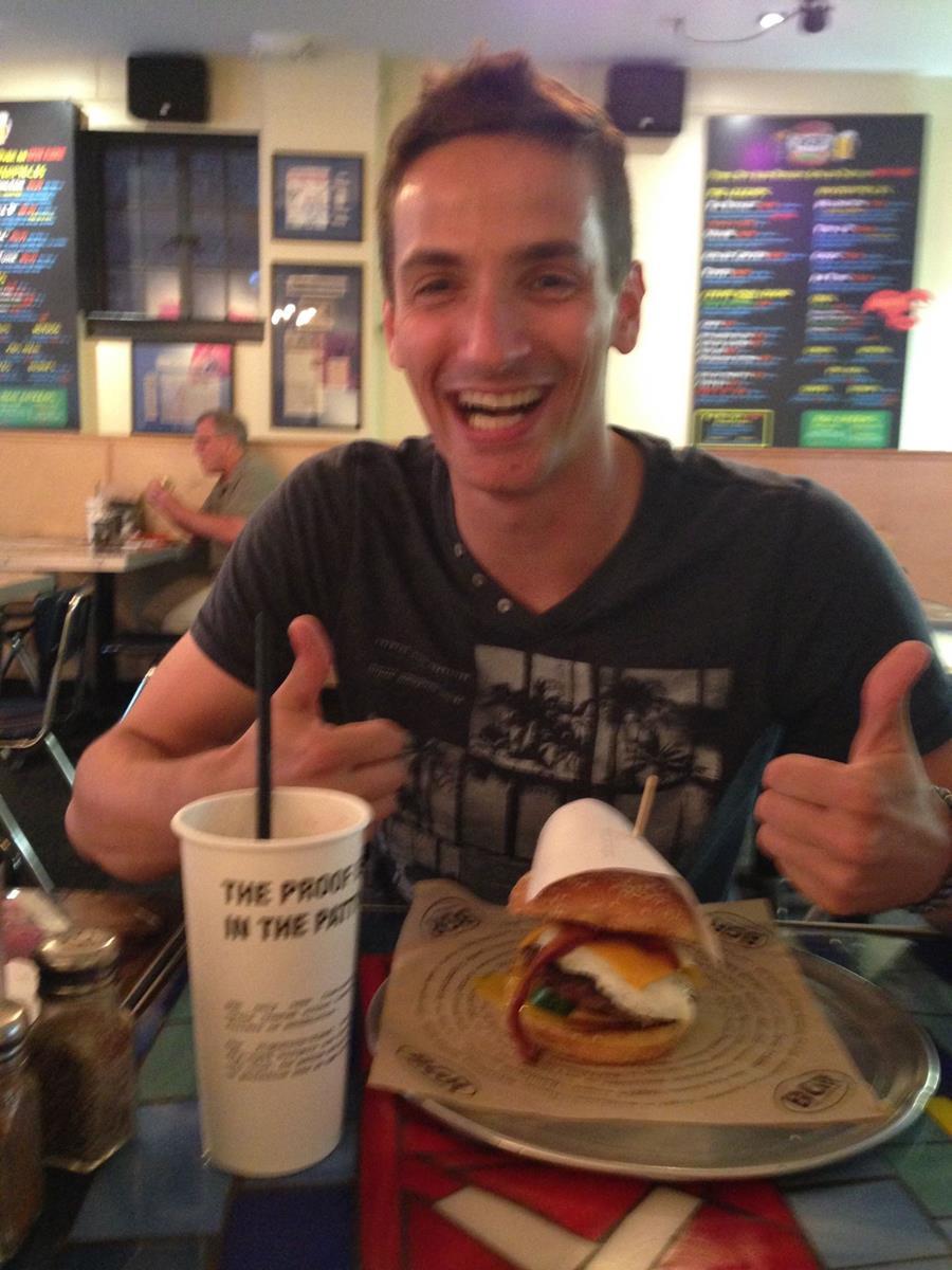 Freu ich mich auf den Burger