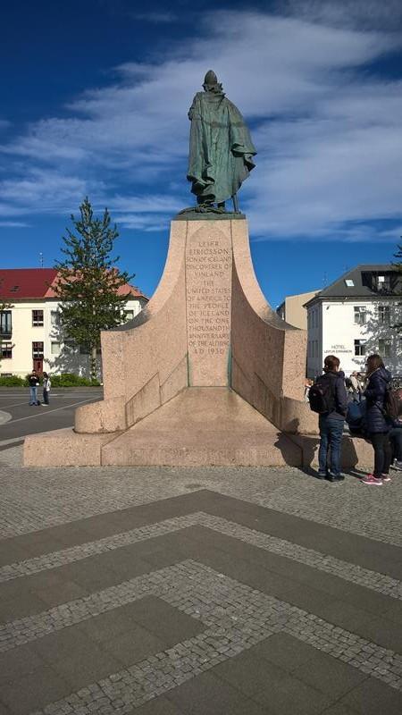 Statue von Eirikson, dem Entdecker von Amerika
