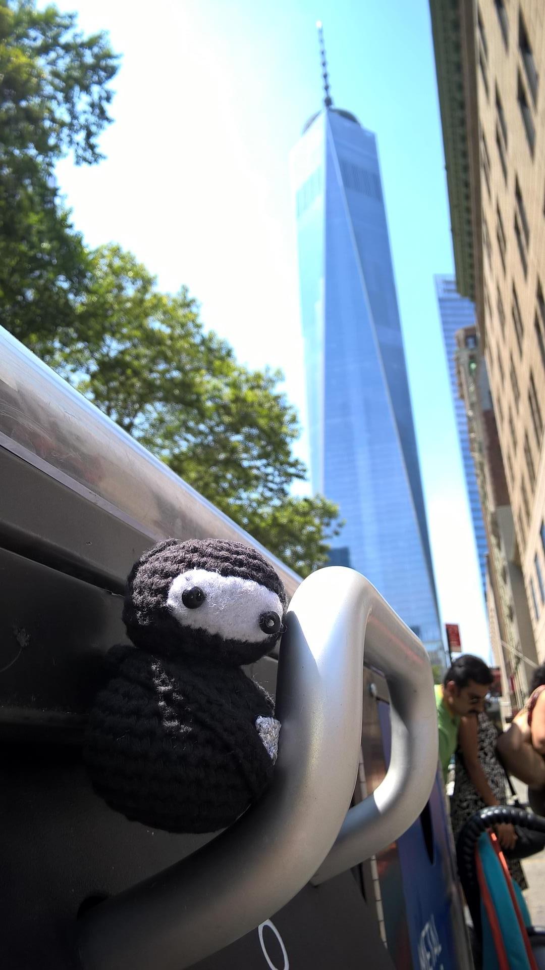 Neumel vor dem Freedome Tower