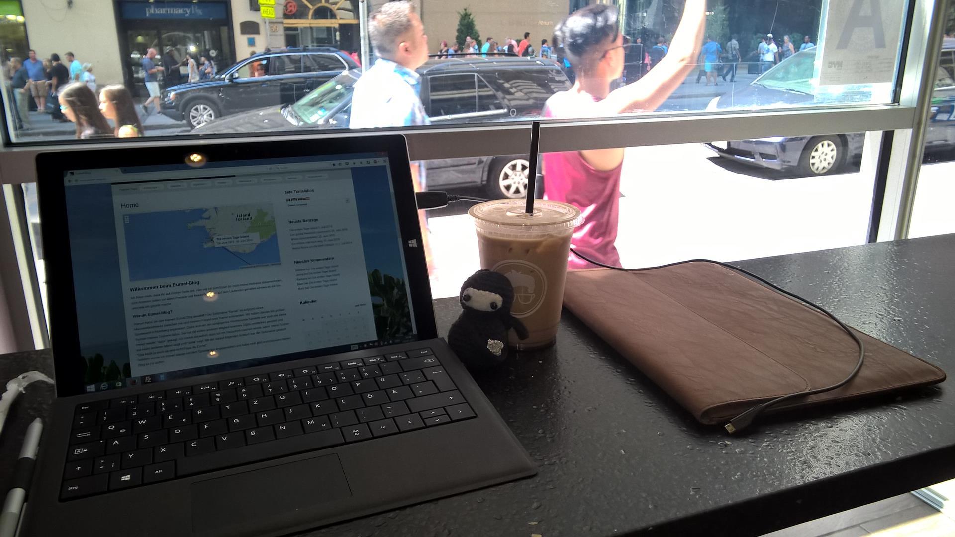 Beim bearbeiten meines Blogs am Broadway