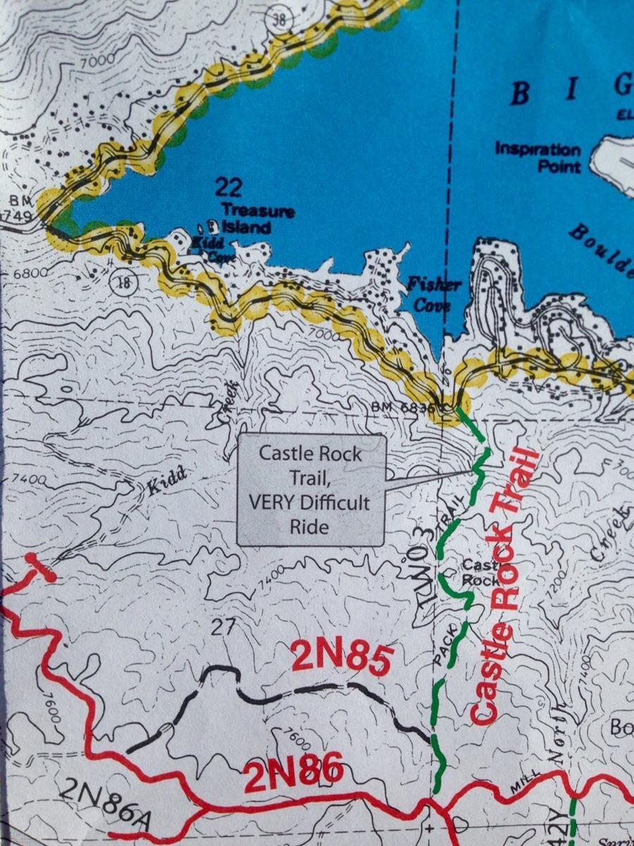 """Der vorgeschlagene Wanderweg ist """"VERY difficult"""" laut Karte"""