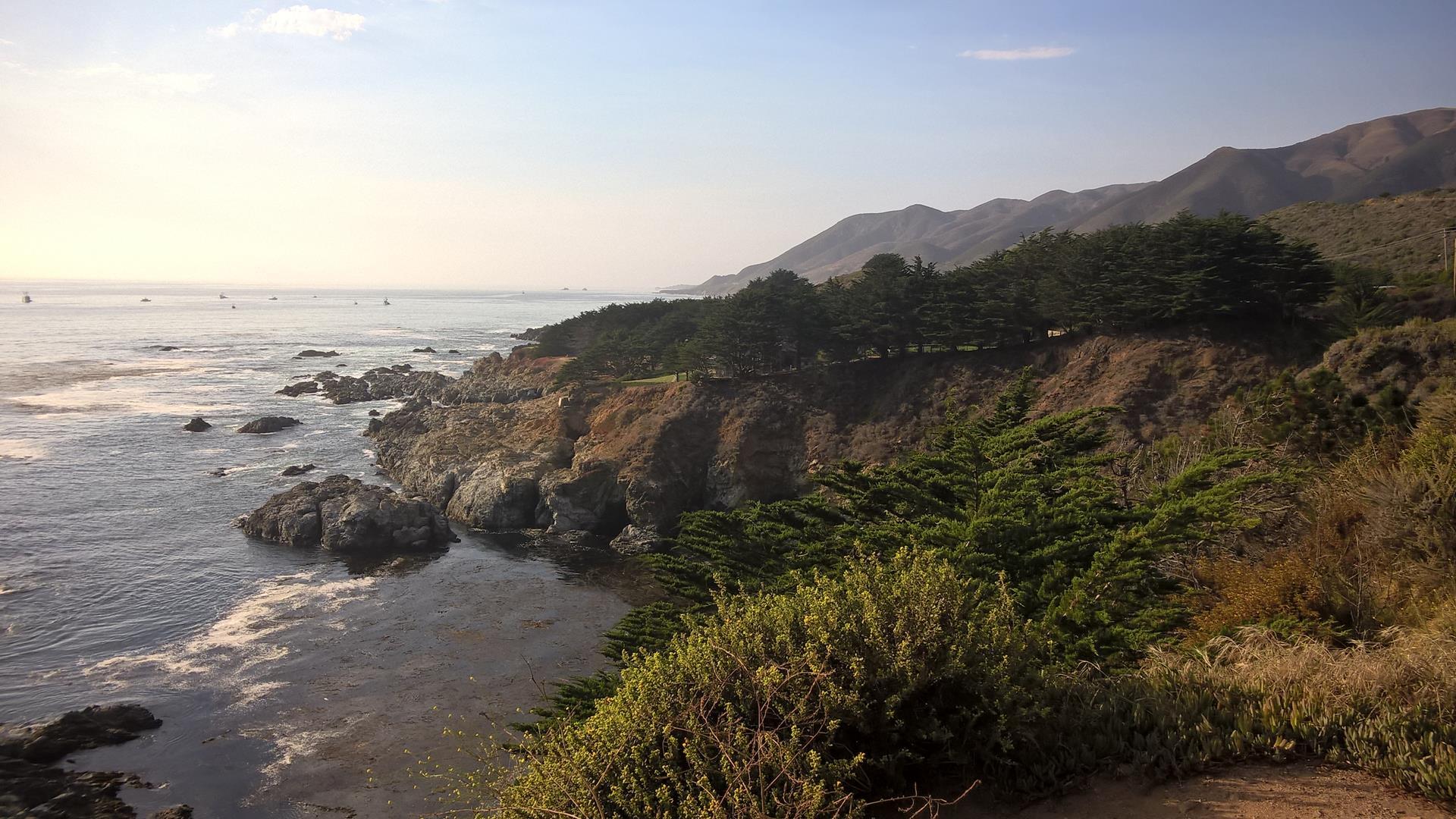 Entlang der Küste...