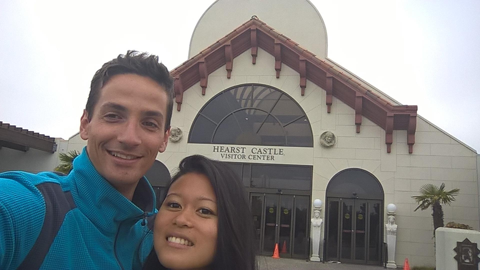 Immerhin waren wir hier: Das Hearst Castle um kurz nach 7 Uhr Morgens