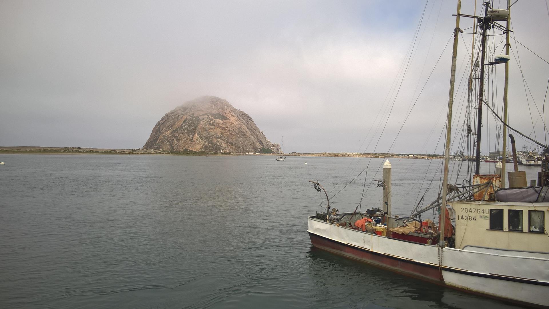Morro Bay war heute Morgen recht nebelig