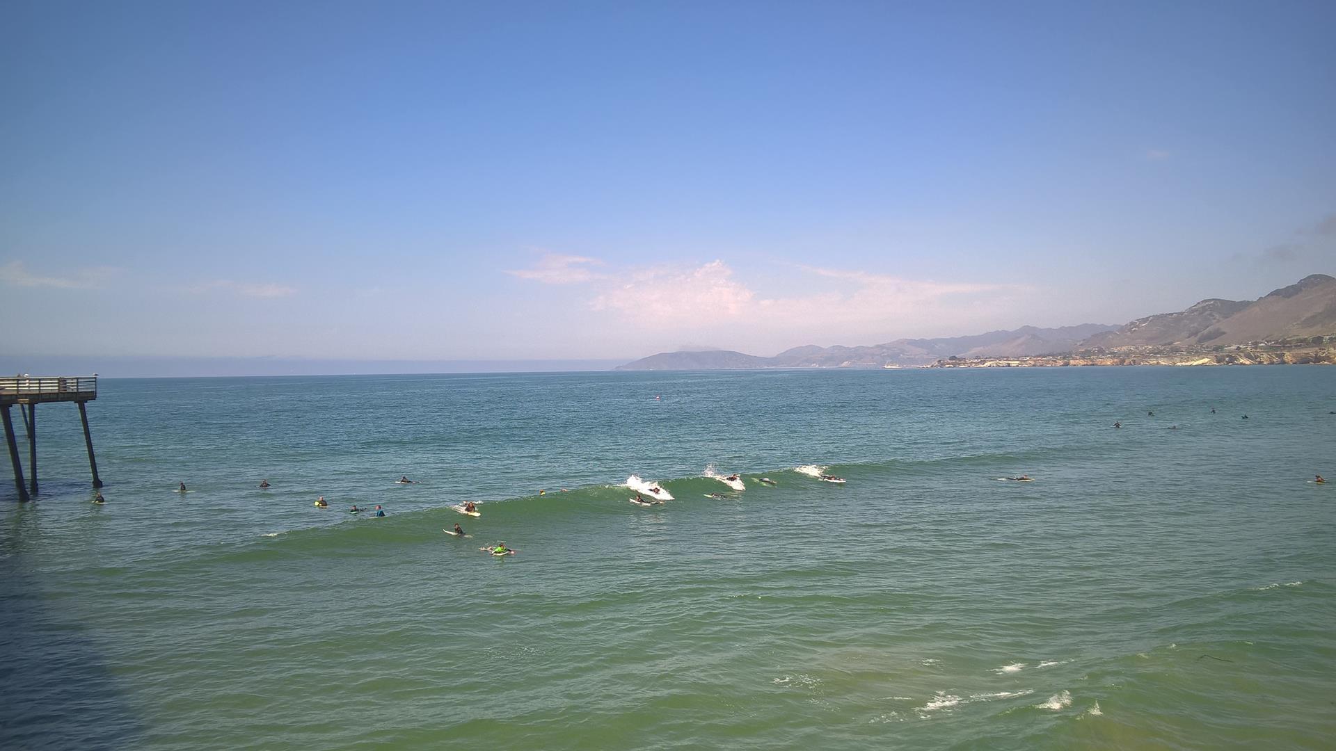 Hier gibt es wirklich viele Surfer