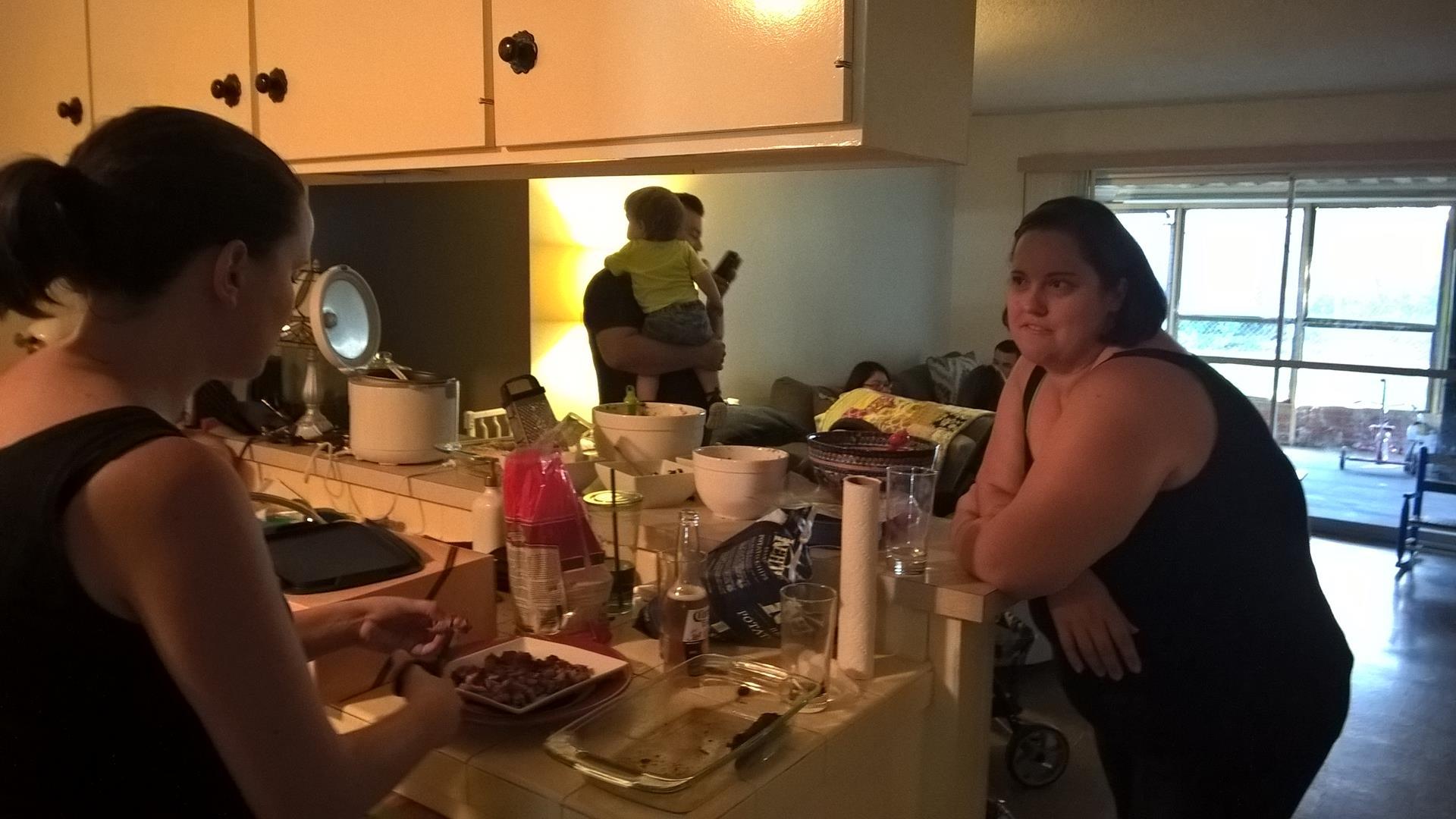 BBQ bei Rachel und ihrer Familie