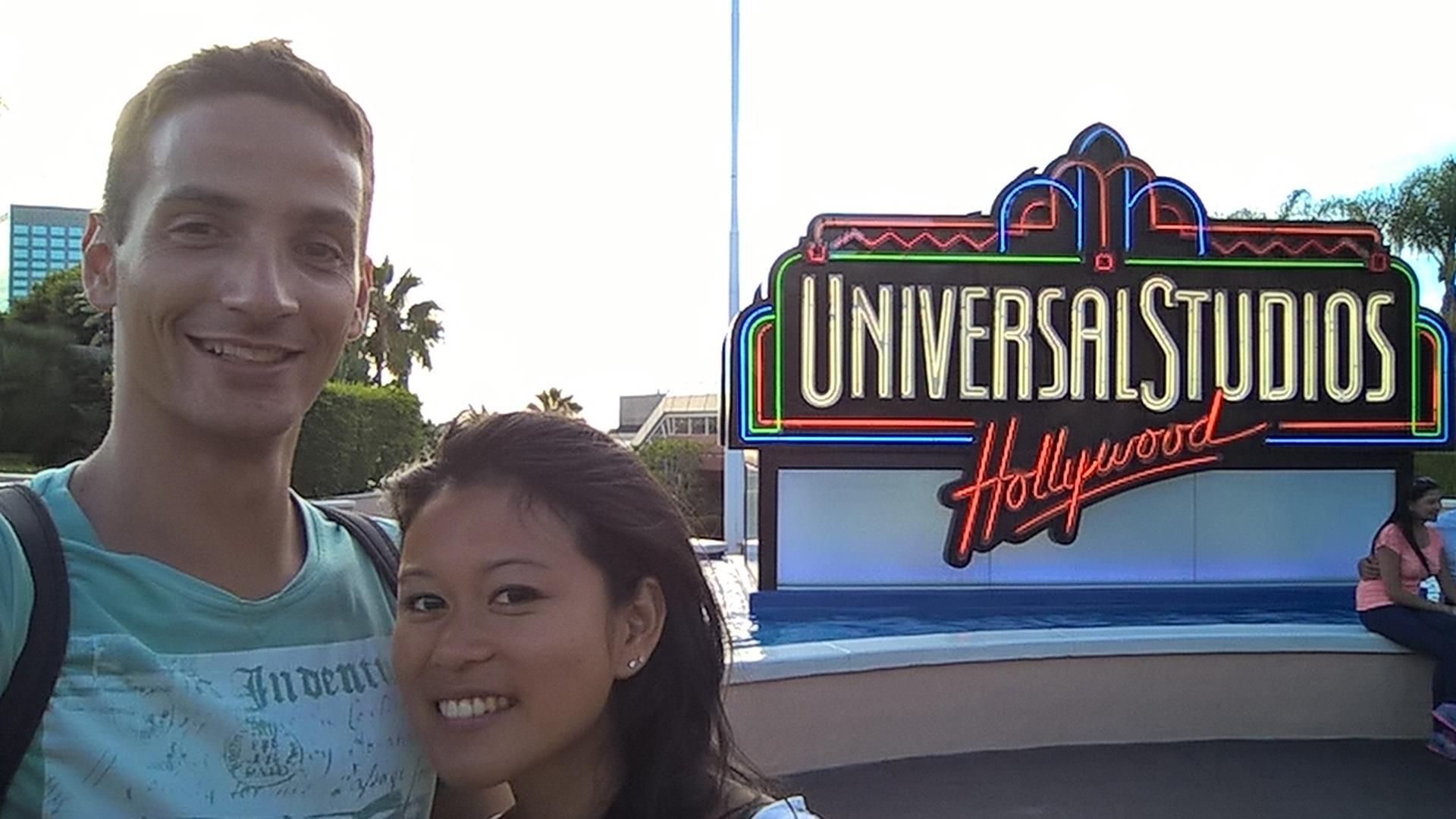 ... und Universal Studios am späten Abend