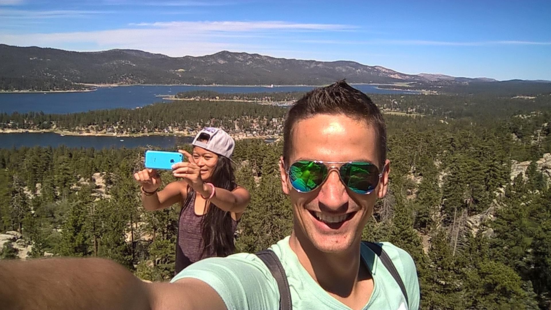 Hab mit dem Selfie das Selfie erwischt