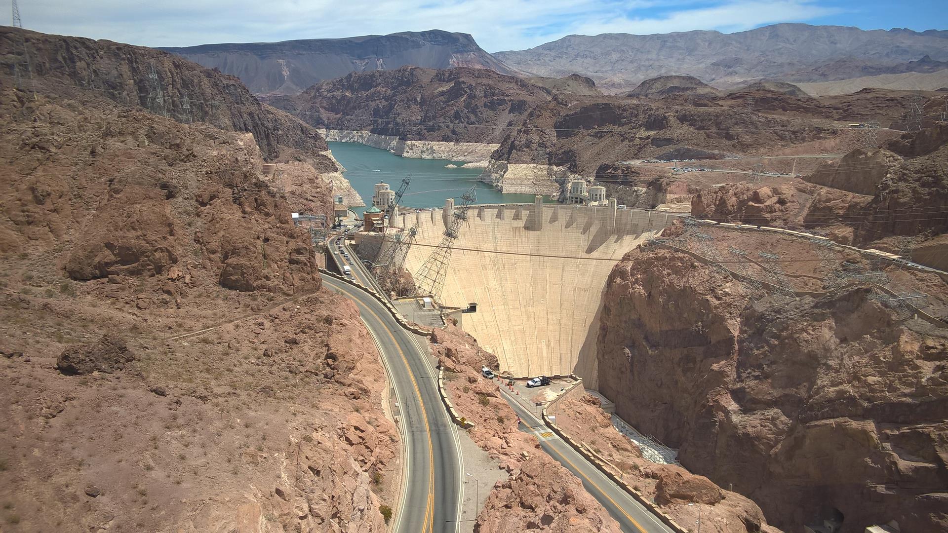 Ziemlich beeindruckend wie groß der Damm ist