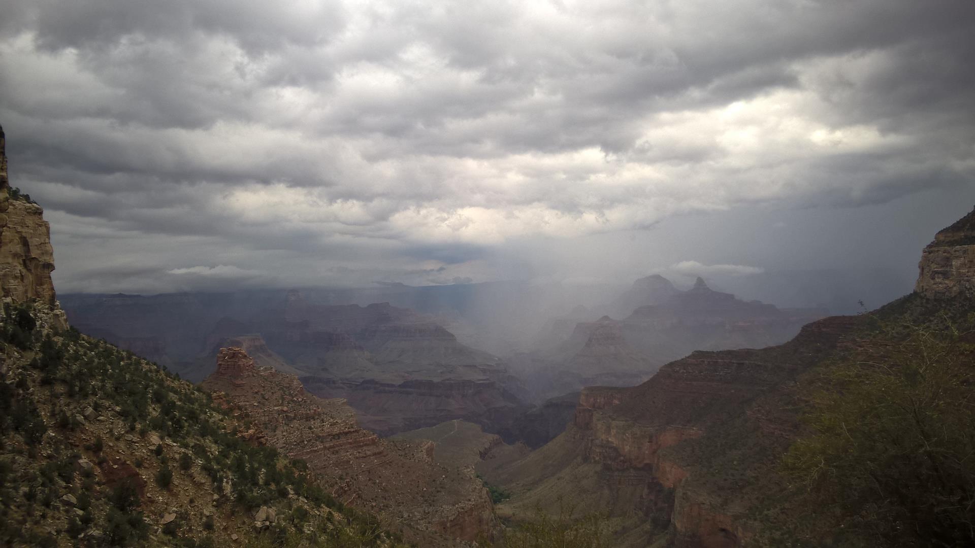 Die Wolken haben schon beeindruckend ausgeschaut...