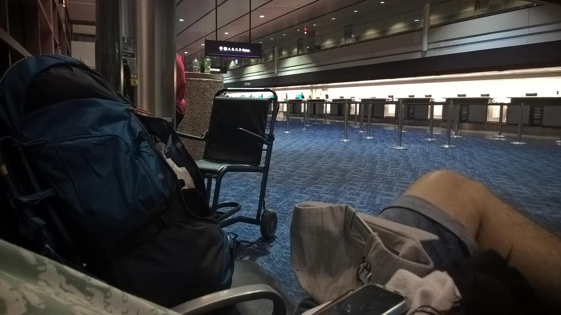 Am Flughafen wurde es dann nochmal recht stressig