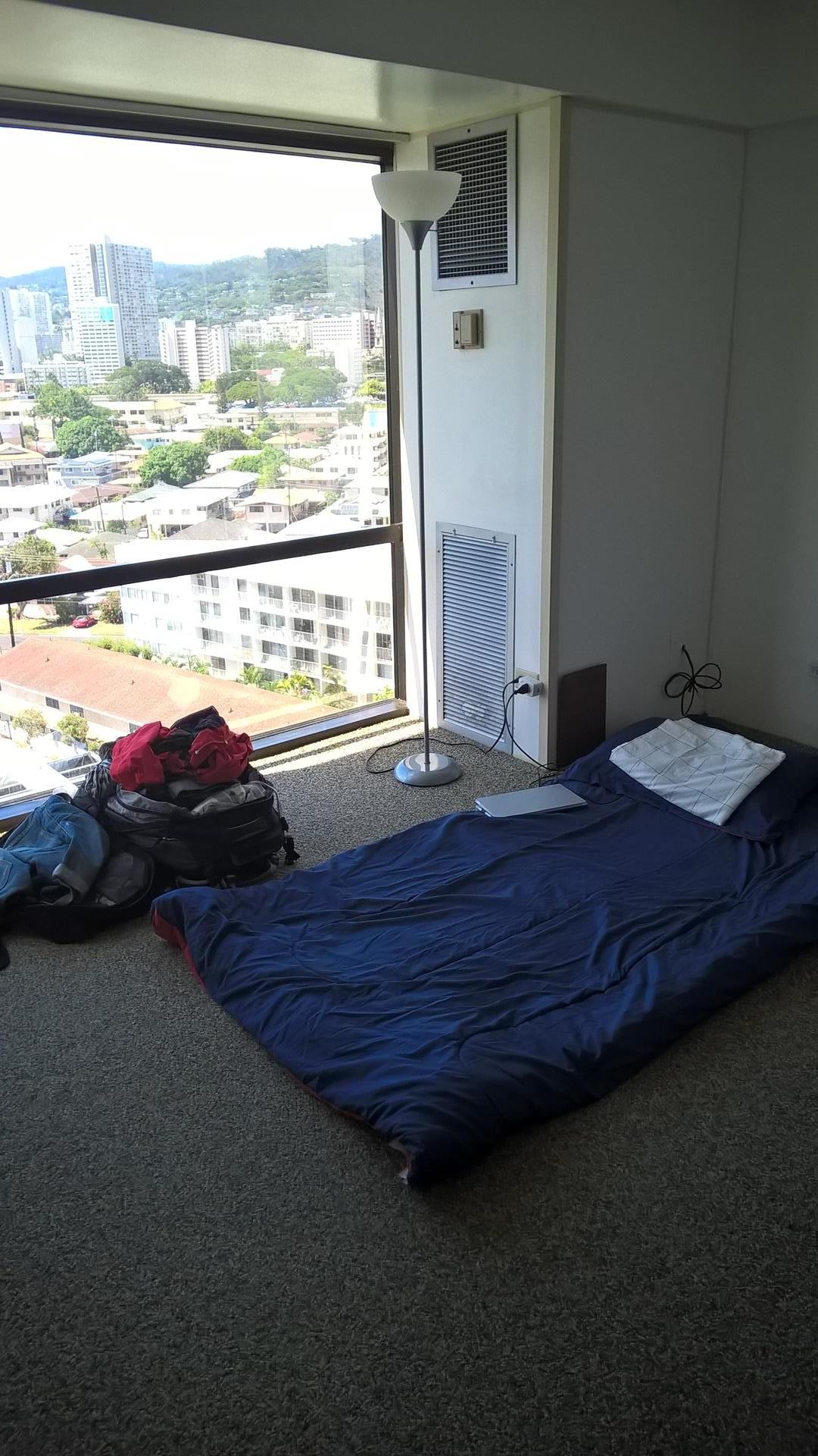 Hier lag ich sehr lange und habe geschlafen