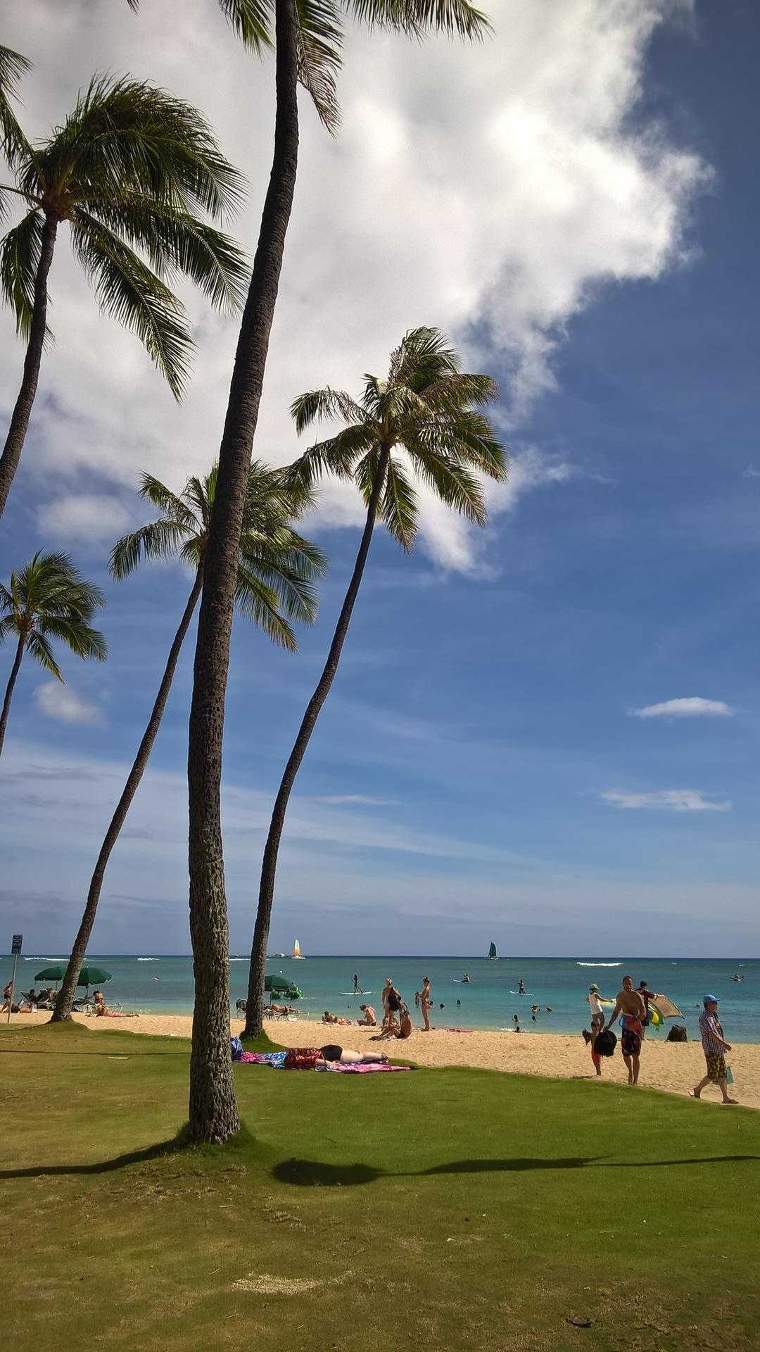 So schauts am Waikiki Beach aus