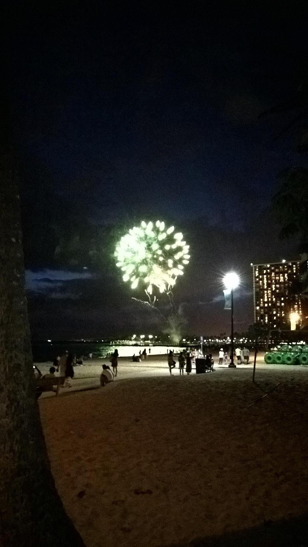 Freitagsfeuerwerk am Waikiki Beach
