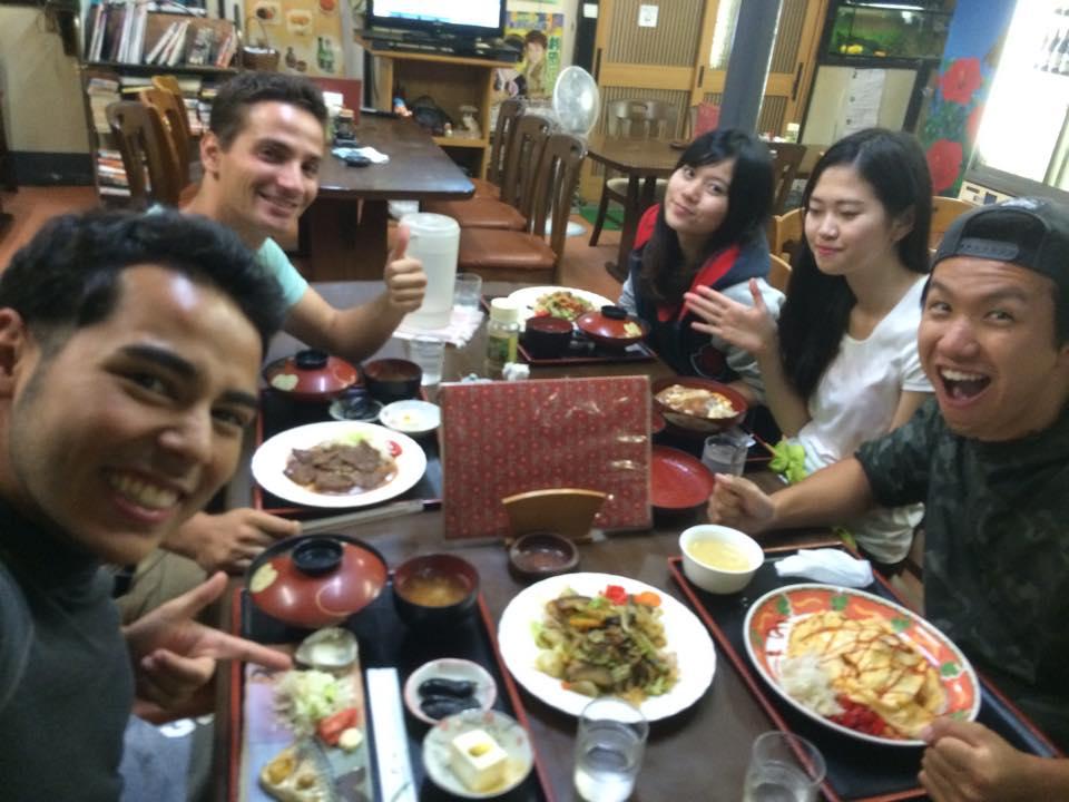 Abendessen zurück in Kanazawa