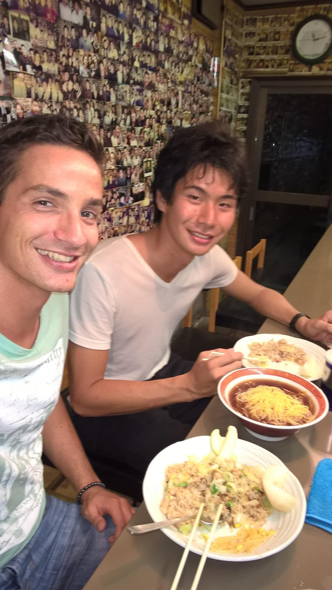 Otake-san und ich beim Abendessen: Hier ist Otake-san Stammgast