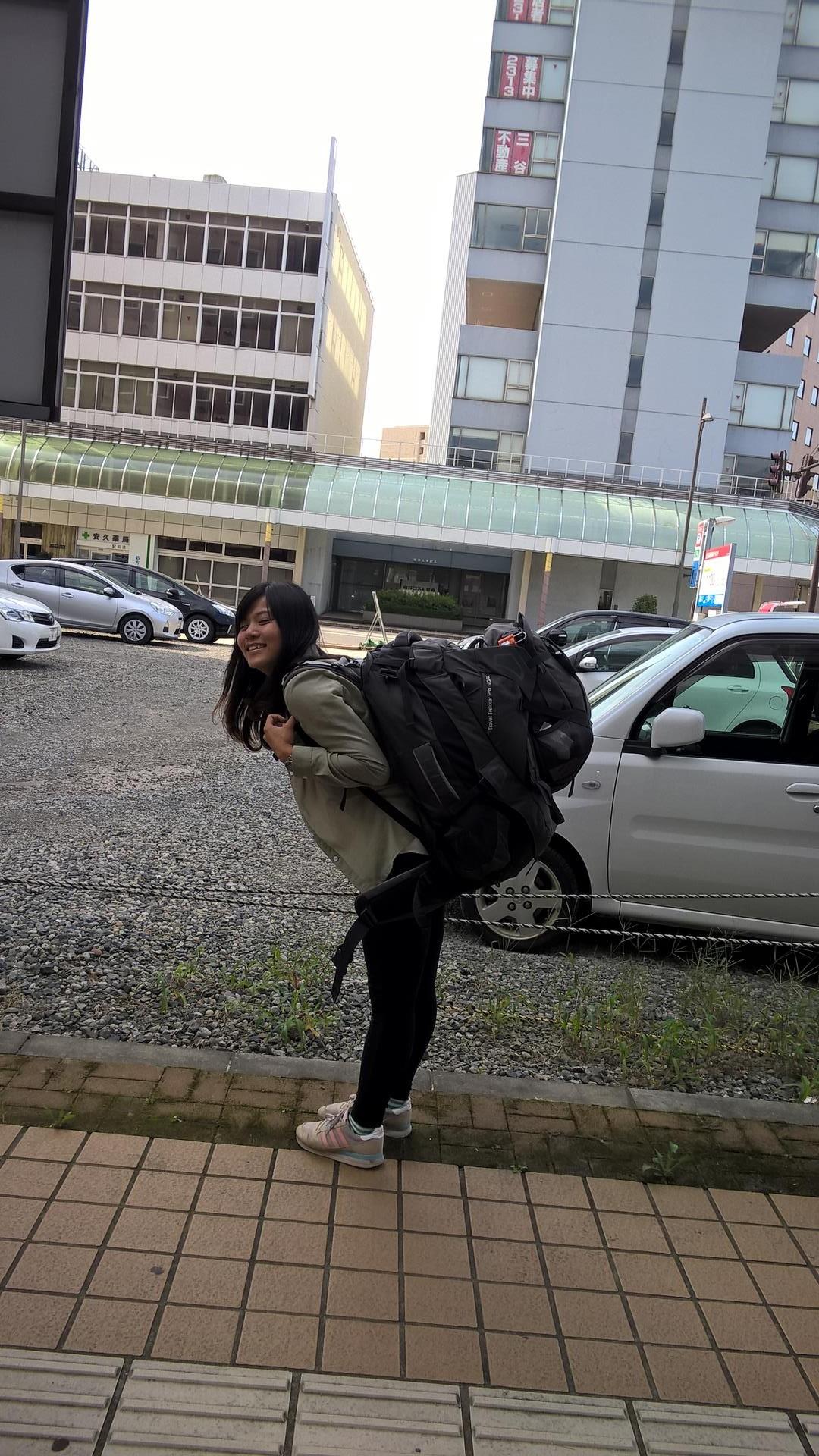 Bi Chu wollte mal meinen Rucksack tragen