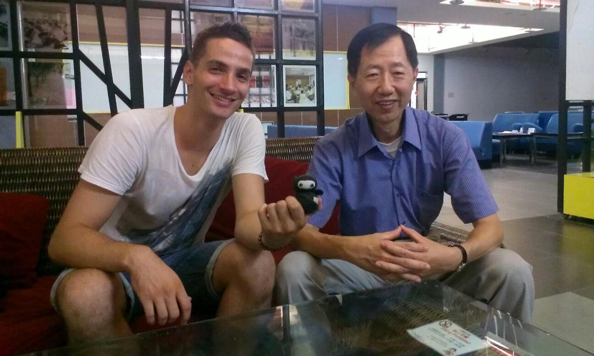 Mit Herr Kuo in der National Taiwanese University