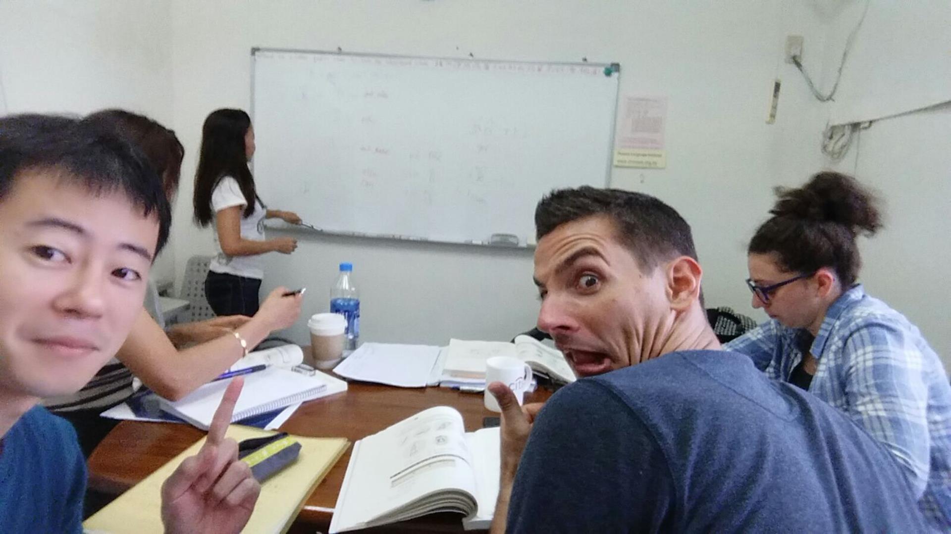 Der Unterricht in der Sprachschule ist weniger schlimm als man meinen könnte