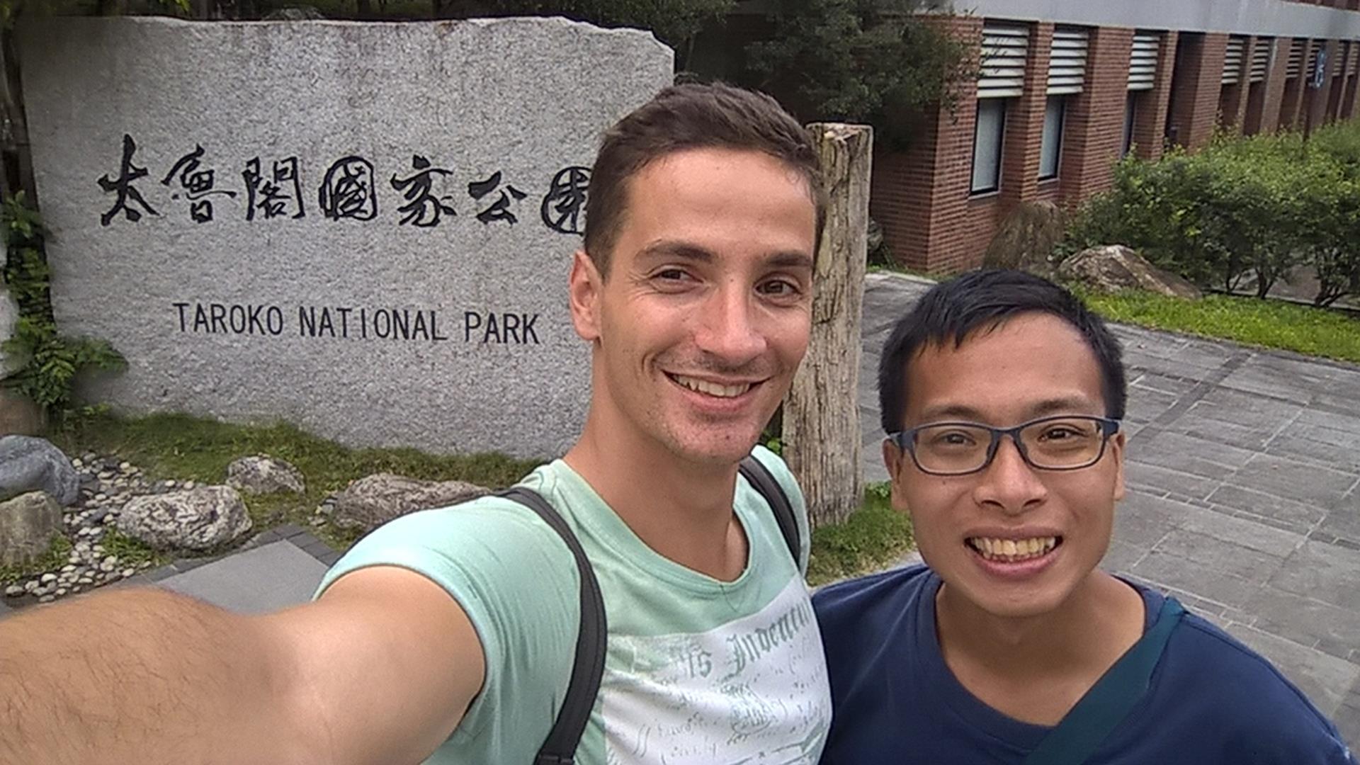 Am Eingang vom Taroko Nationalpark
