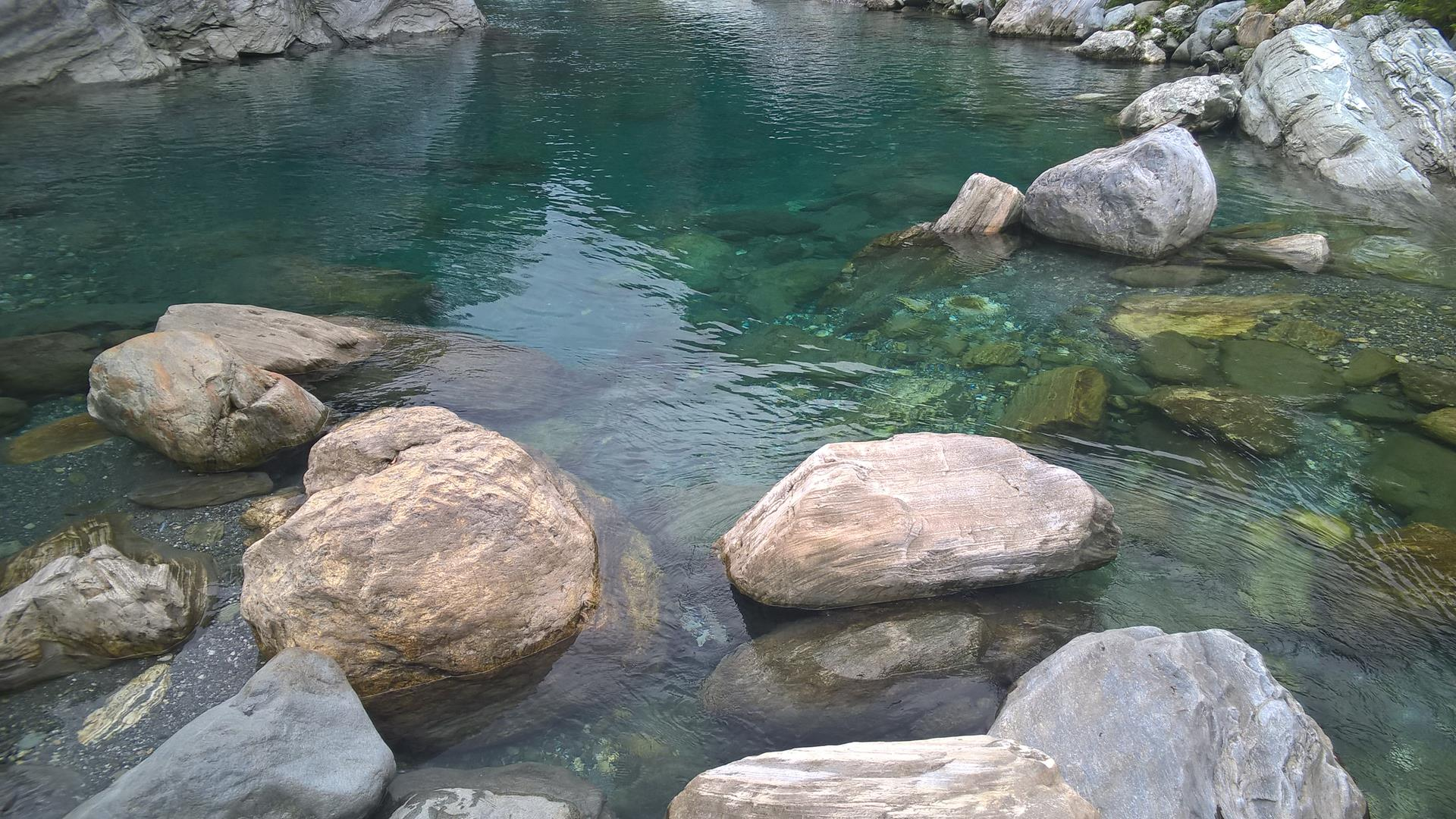 ... war das Wasser unglaublich klar