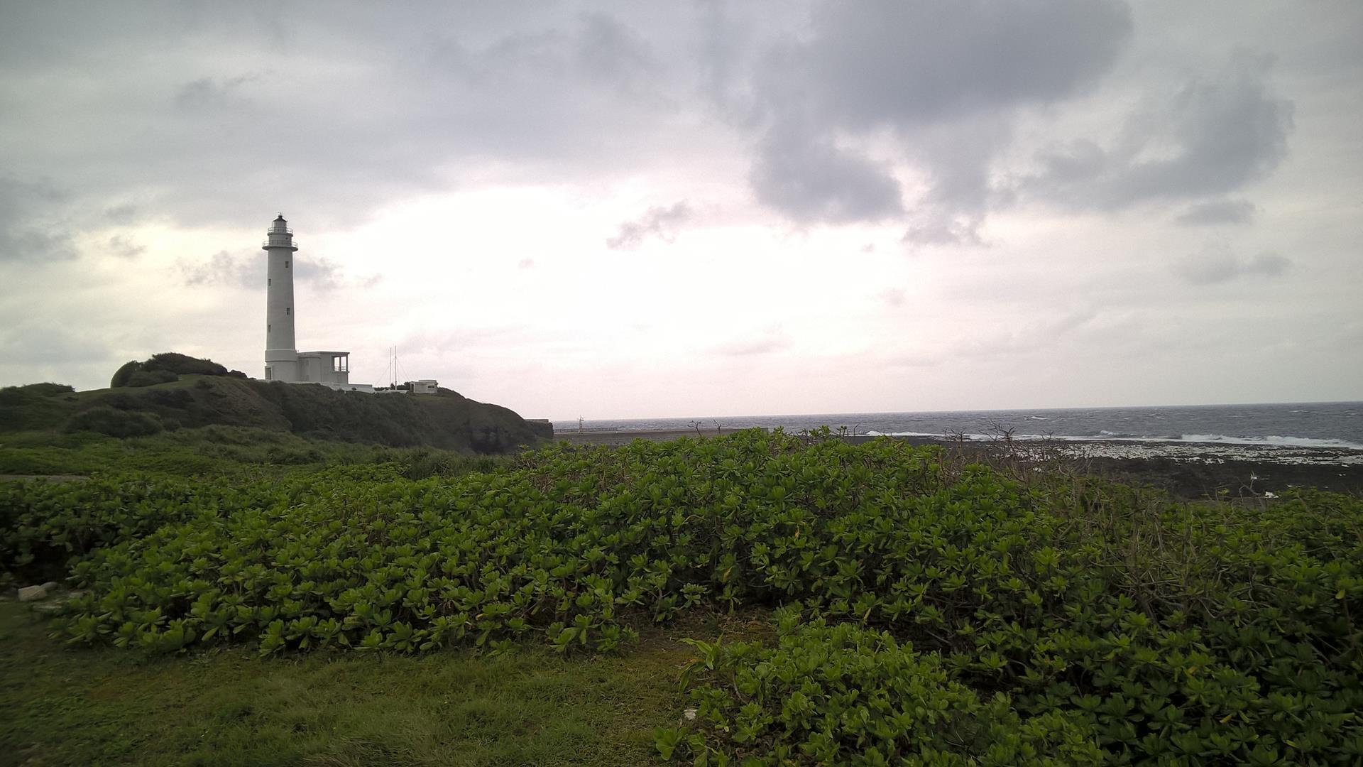 Leuchtturm auf der grünen Insel
