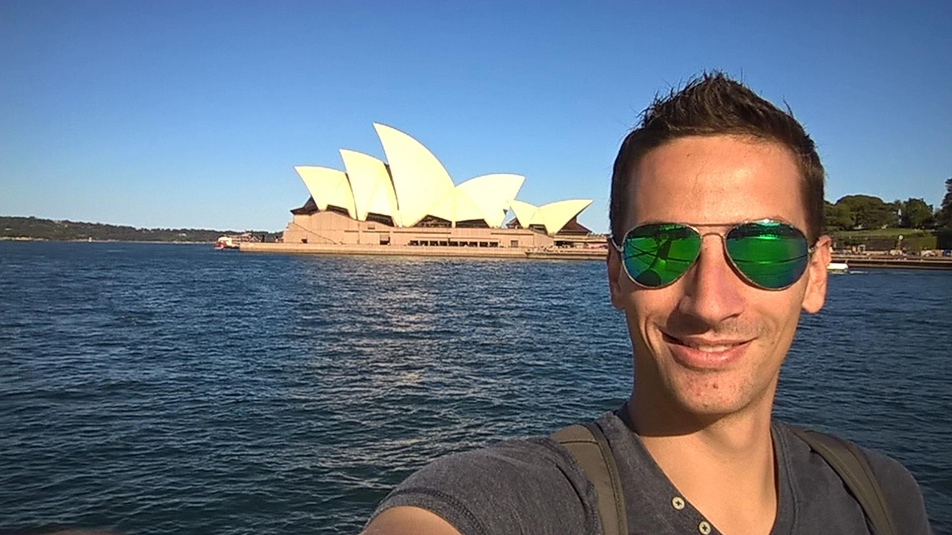 Vor dem Opernhaus in Sydney
