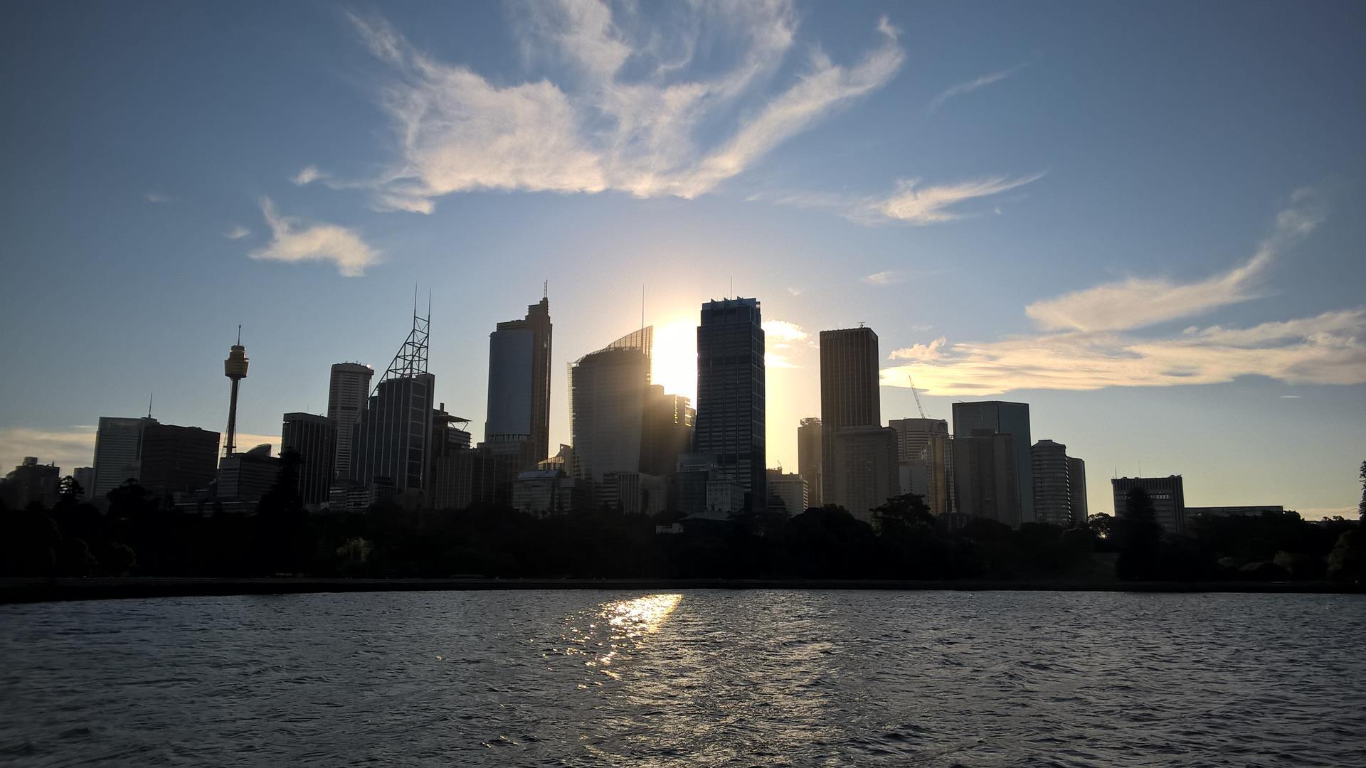 Sydney Skyline bei Sonnenuntergang
