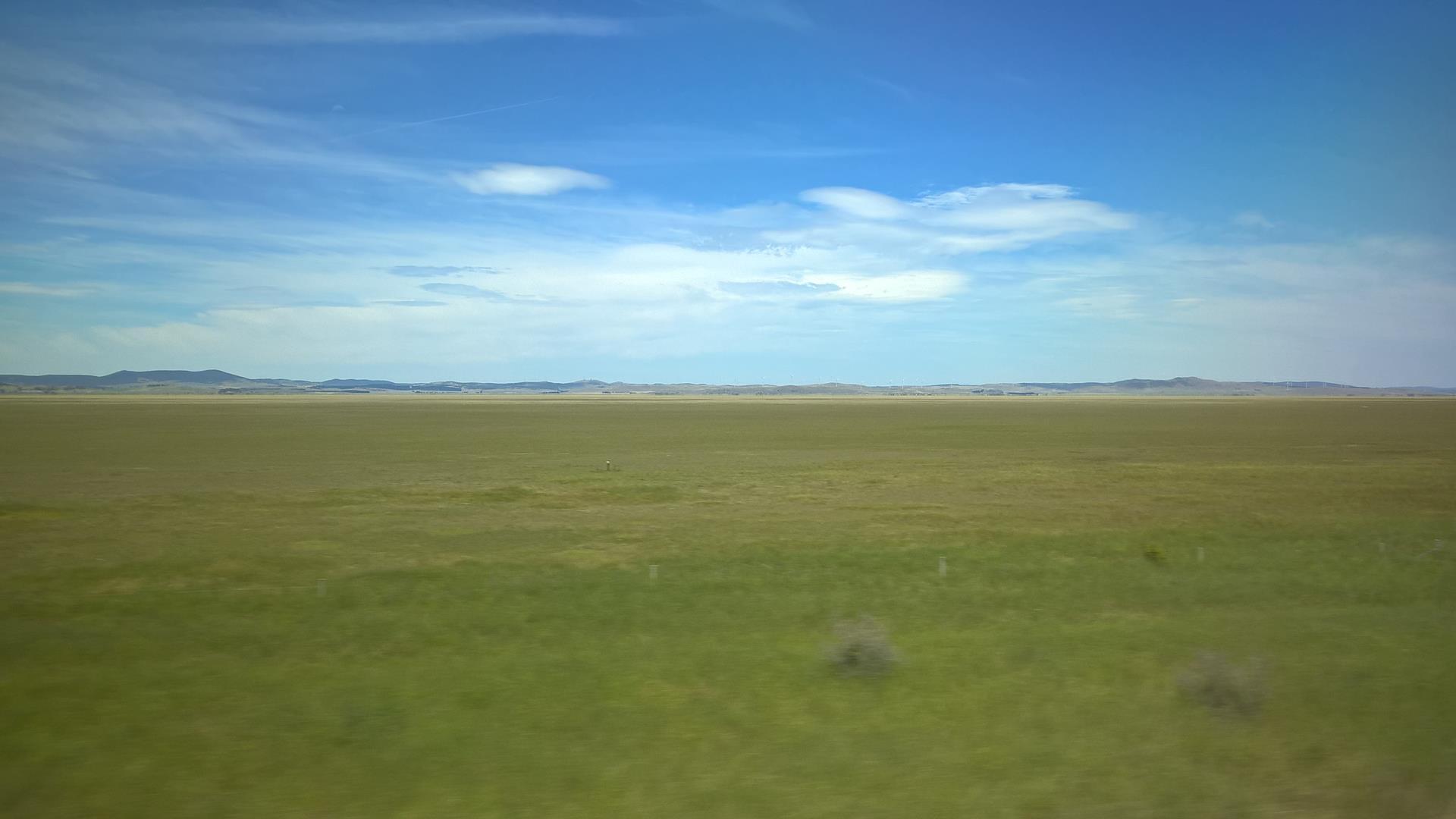 Auf dem Weg nach Canberra: Die Landschaft ist anders als ich erwartet hatte