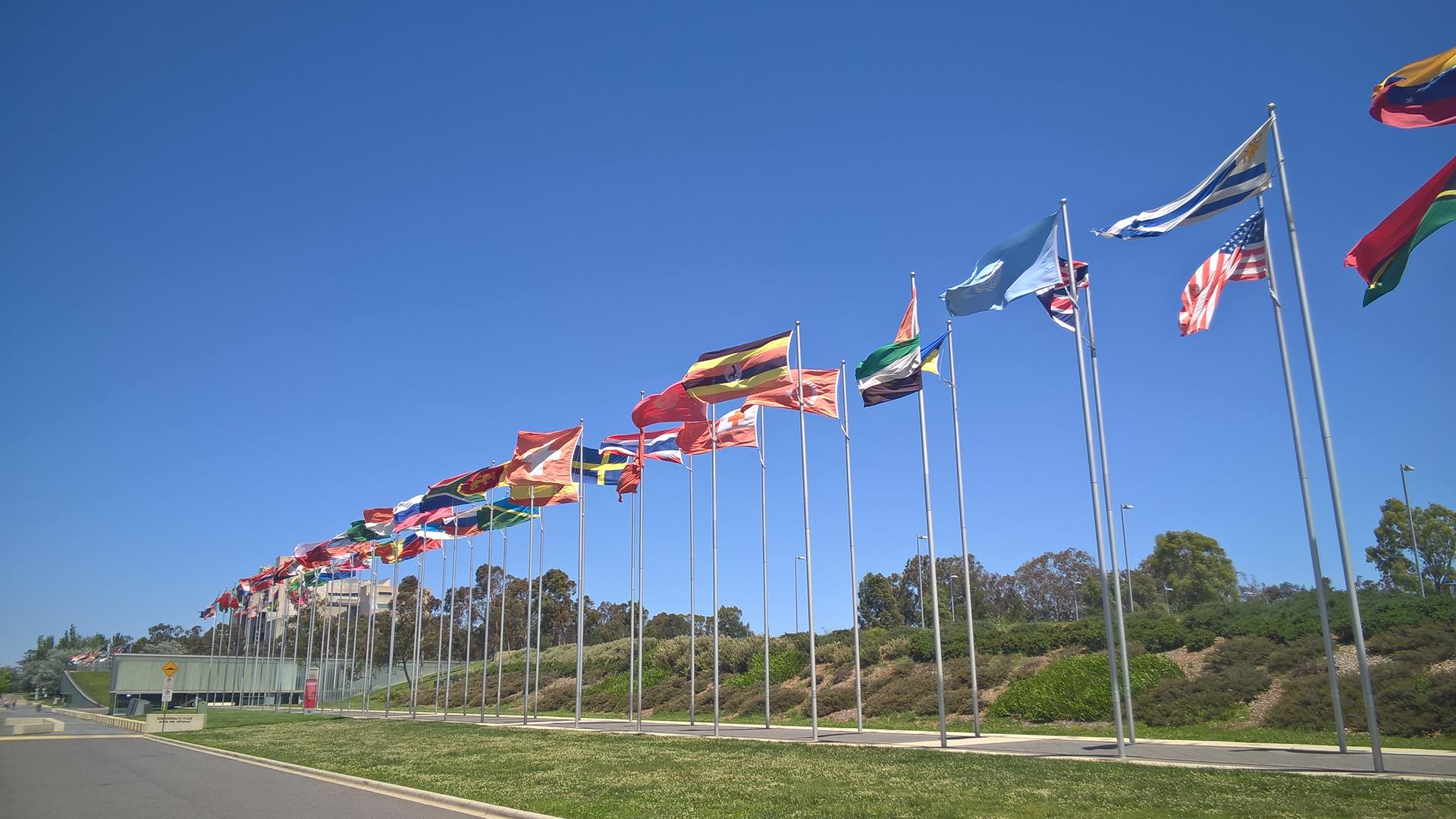In der Haupstadt dürfen die Flaggen natürlich nicht fehlen