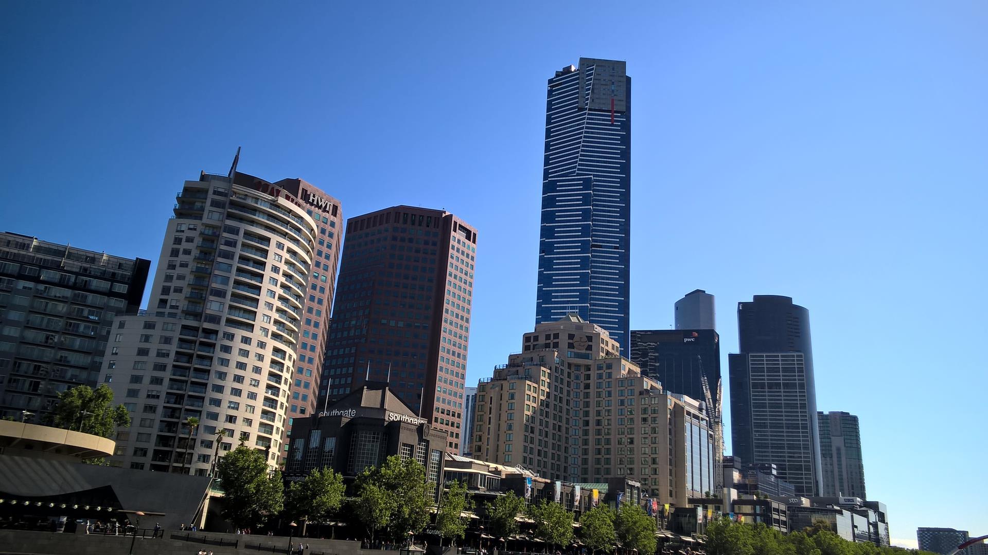 Skyline inklusive Eureka Tower