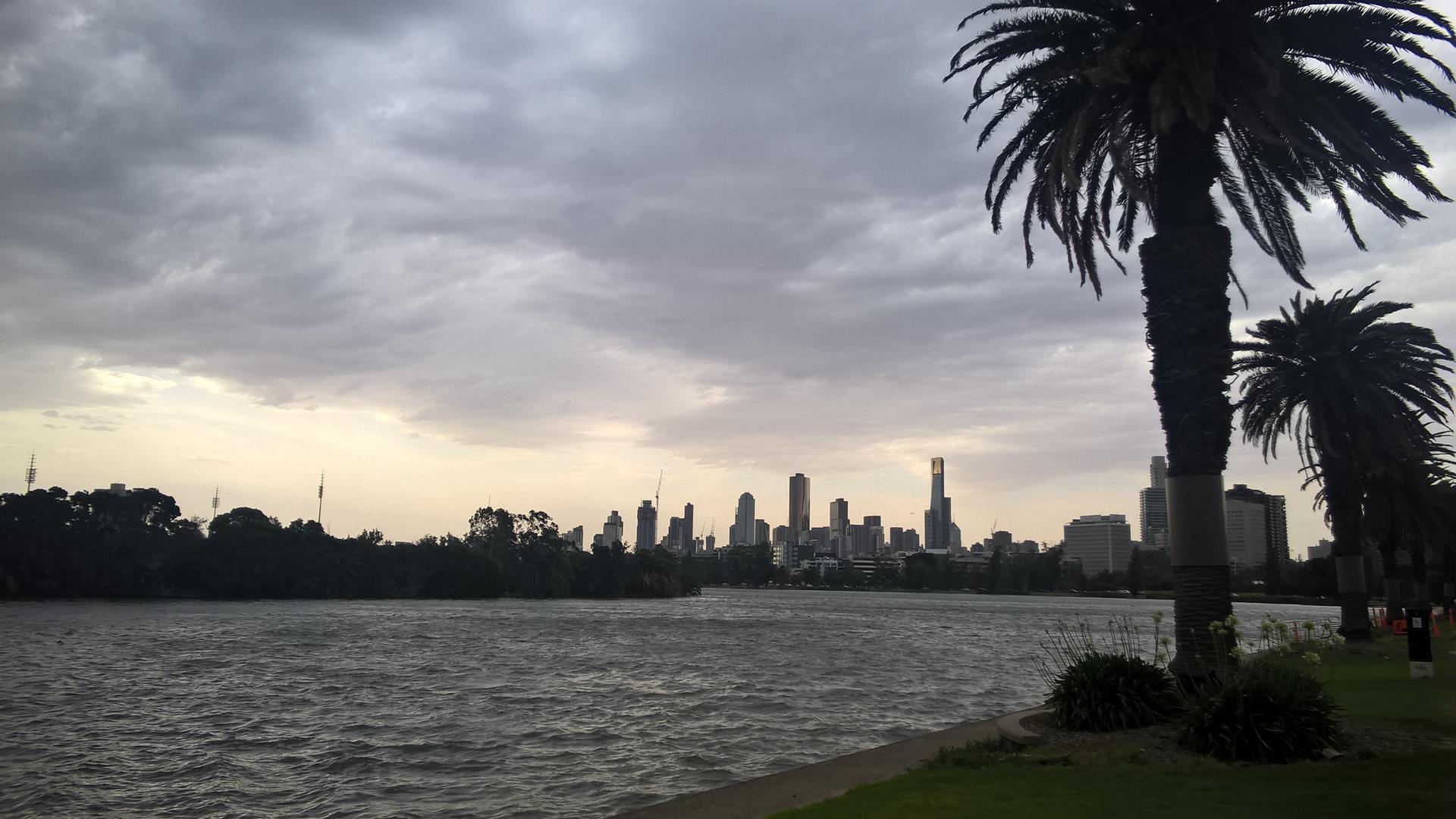 Blick Richtung Melbourne vom Albert Park