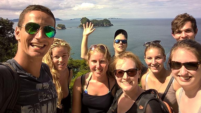 ... diesmal mit einer Gruppe von Kiwi Experience
