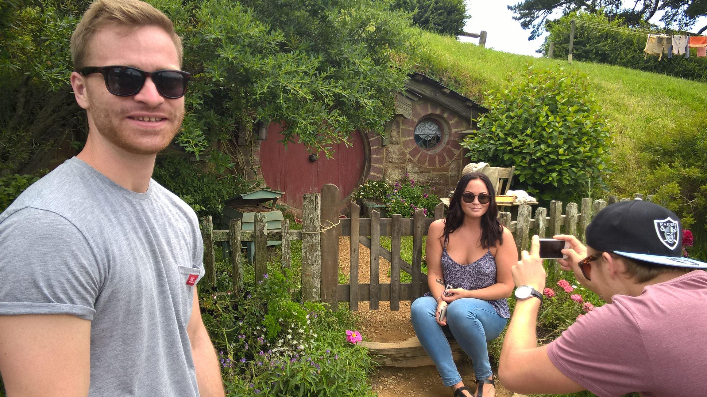 Mach doch auch ein Bild von mir: Nick, Louise und Philip