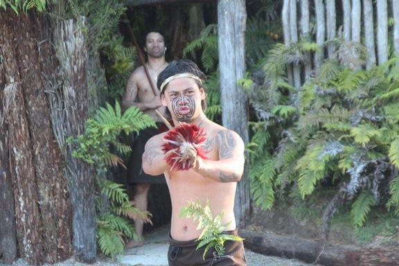 Eine Demonstration der Kampfstärke der Maori-Krieger