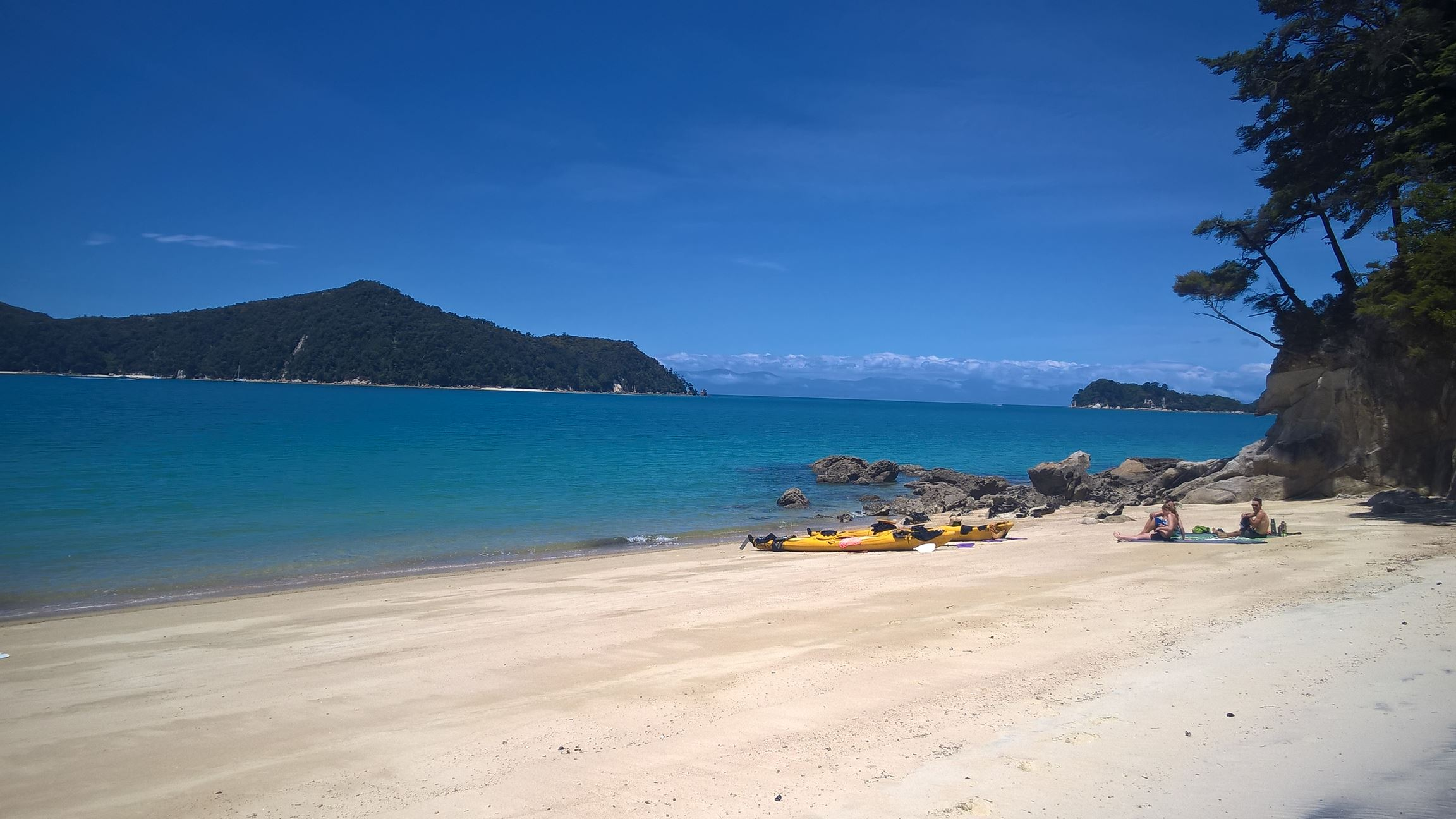Pause an einem einsamen Strandabschnitt