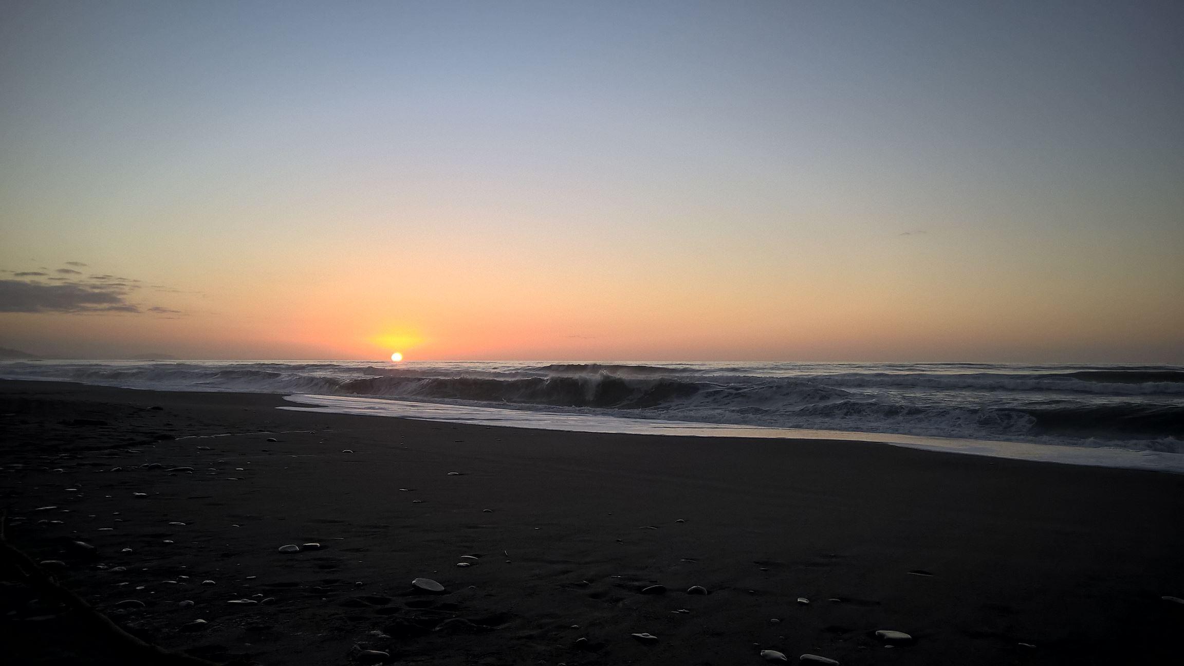 Der klarste Sonnenuntergang bisher