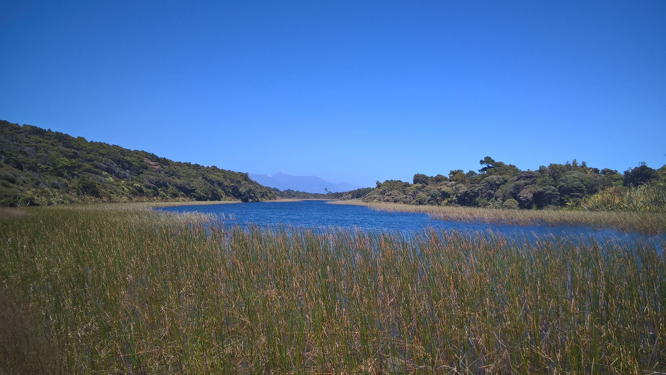 Auf einmal habe ich einen See entdeckt