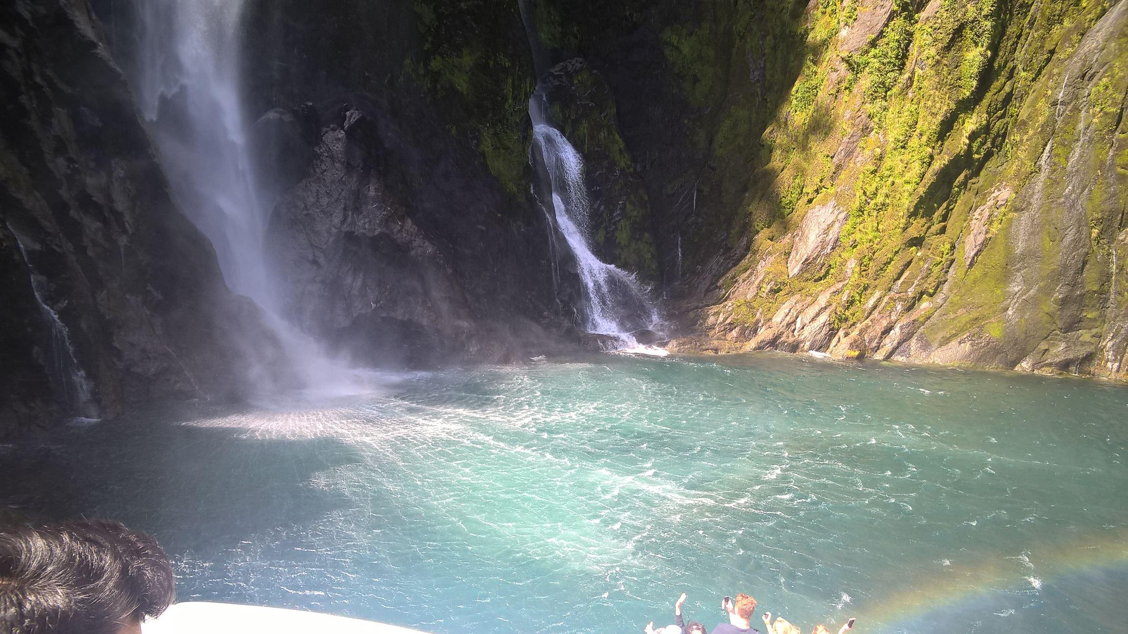 ... diesen Wasserfall gemacht, wobei...