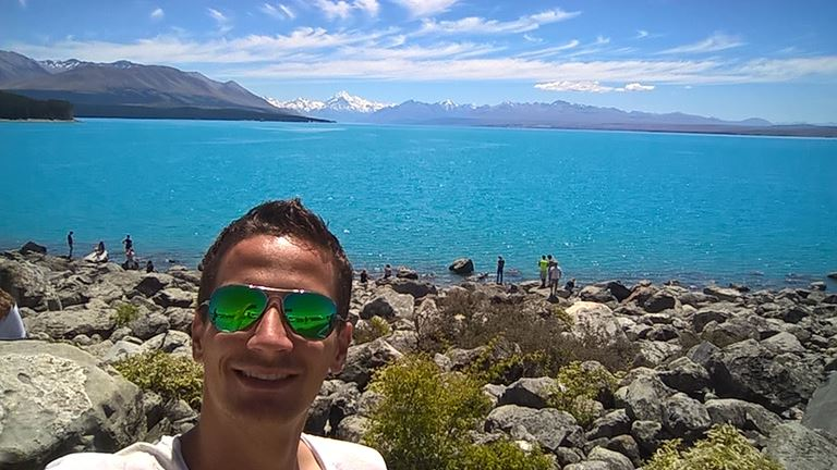 Selfie am Lake Pukaki