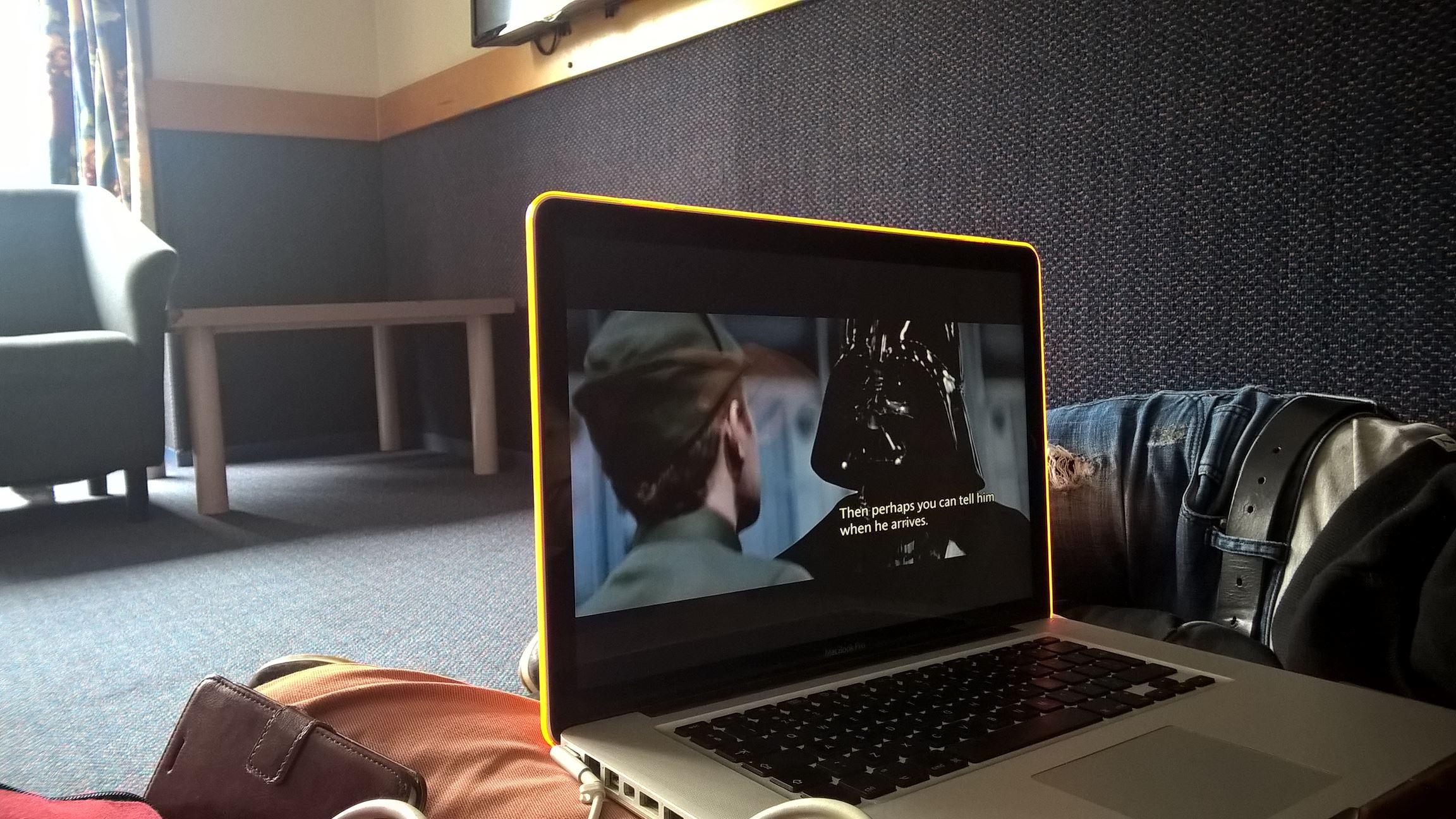 Vorbereitungen für den Star Wars Abend