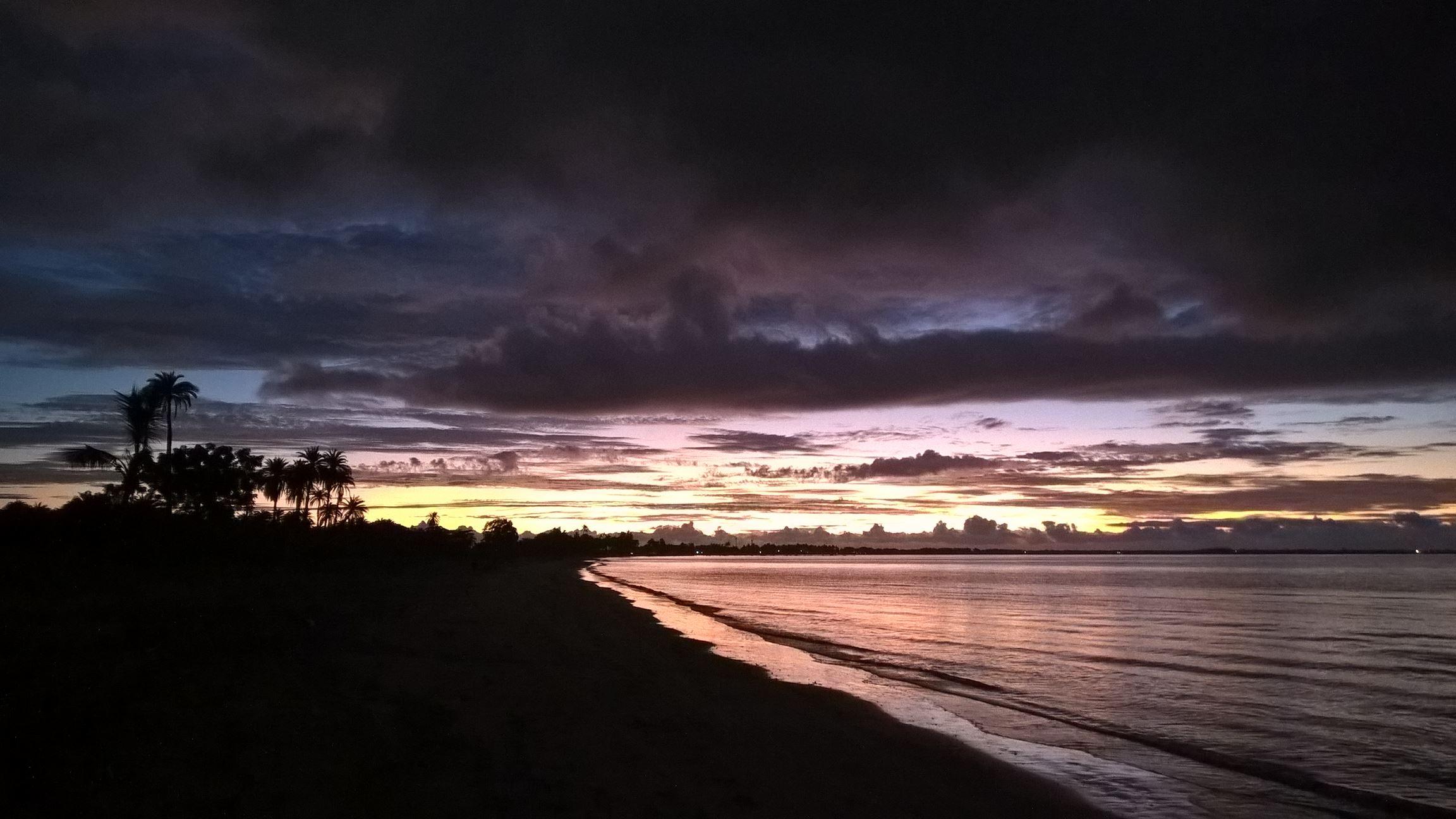 ... mit schönsten Sonnenuntergang