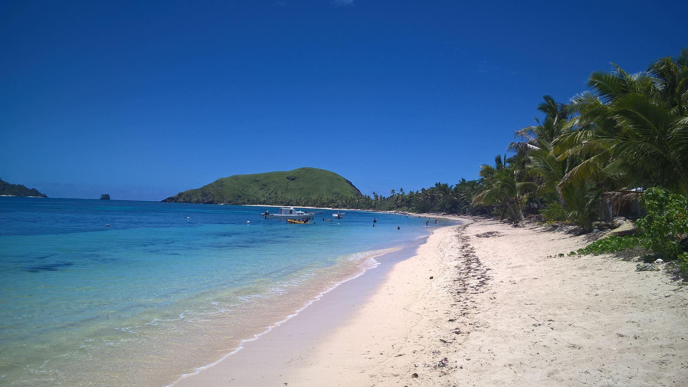 Der Strand vor dem kleinen Dorf...