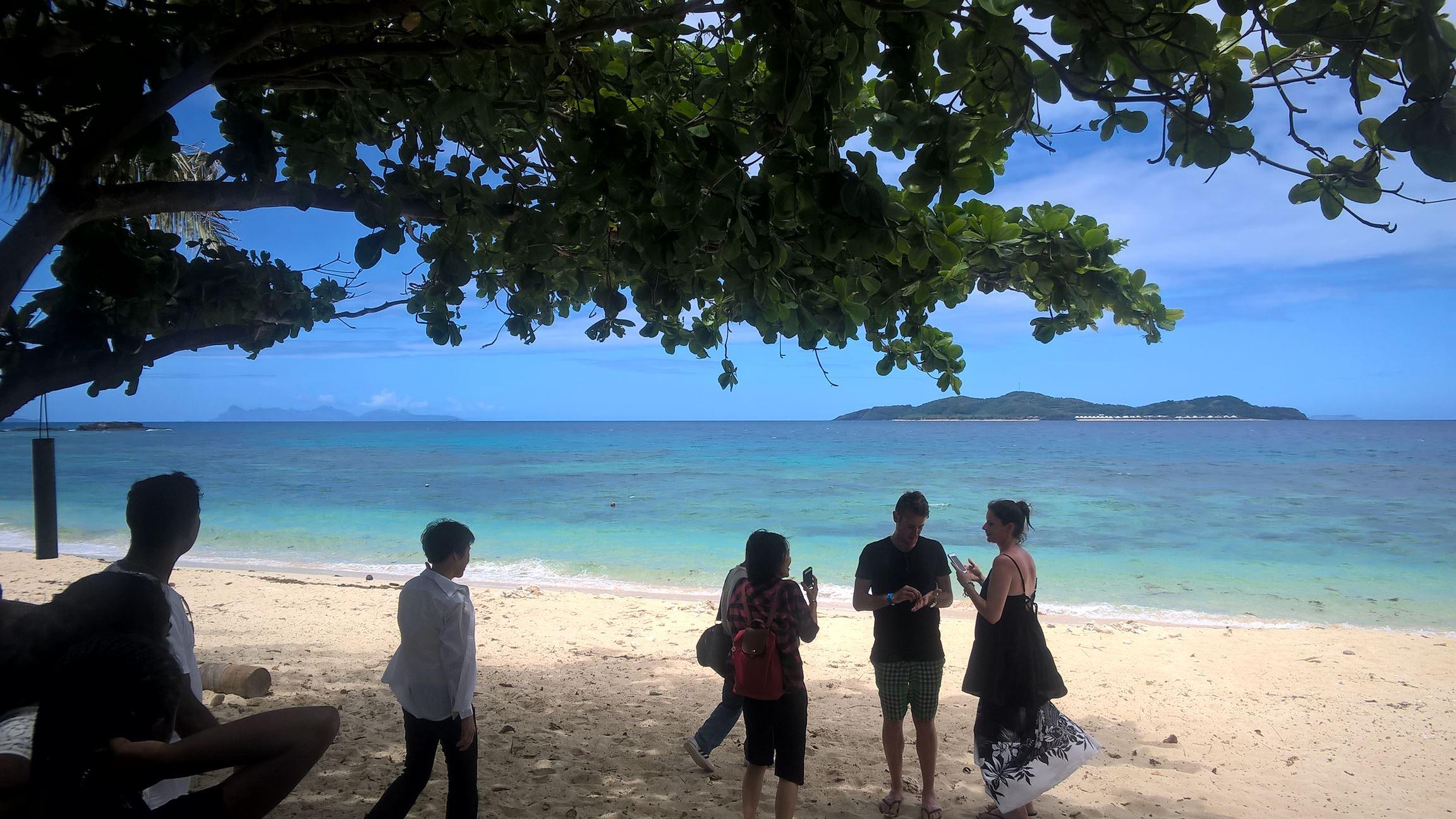 ... um auf der anderen Seite der Insel...